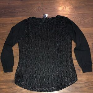 Ann Taylor black marbled sweater